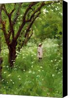 Kid Painting Canvas Prints - The Orchard  Canvas Print by Thomas Cooper Gotch