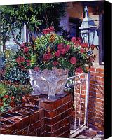 Lamps Painting Canvas Prints - The Ornamental Floral Gate Canvas Print by David Lloyd Glover