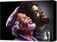 Rapper. Musician Canvas Prints - The Other Side-Gil Scott Finally Going Home Canvas Print by Reggie Duffie