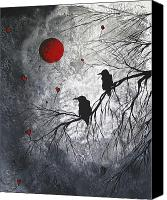 Gray Canvas Prints - The Overseers by MADART Canvas Print by Megan Duncanson