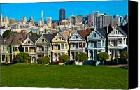 Painted Ladies Canvas Prints - The Painted Ladies Canvas Print by Harry Spitz