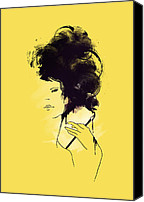Hair Canvas Prints - The painter Canvas Print by Budi Satria Kwan