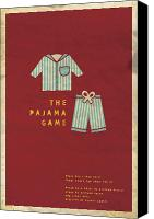 Pajamas Canvas Prints - The Pajama Game Canvas Print by Megan Romo