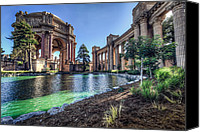Fine Arts Canvas Prints - The Palace of Fine Arts Canvas Print by Everet Regal