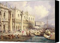 Aristocrat Canvas Prints - The Palaces of Venice Canvas Print by Samuel Prout
