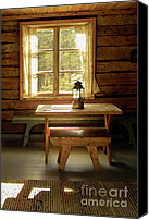 Cabin Window Canvas Prints - The Parlour Canvas Print by Heiko Koehrer-Wagner