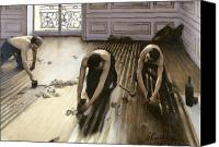 1875 Canvas Prints - The Parquet Planers Canvas Print by Gustave Caillebotte