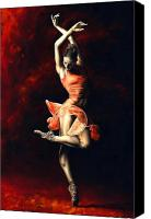 Dancer Painting Canvas Prints - The Passion of Dance Canvas Print by Richard Young