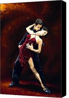 Dancers Canvas Prints - The Passion of Tango Canvas Print by Richard Young