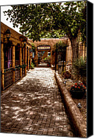 Albuquerque Canvas Prints - The Patio Market Canvas Print by David Patterson