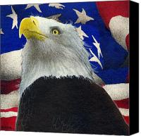 Eagles Canvas Prints - The Patriot... Canvas Print by Will Bullas