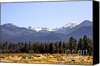 Snow Capped Canvas Prints - The Peaks - Where earth meets heaven Canvas Print by Christine Till