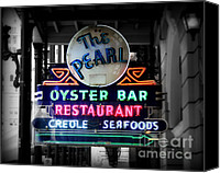 Louisiana Seafood Canvas Prints - The Pearl Canvas Print by Perry Webster