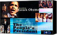 Joe Biden Canvas Prints - The Peoples President Canvas Print by Terry Wallace
