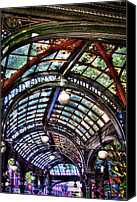 Pioneer Square Canvas Prints - The Pergola Ceiling in Pioneer Square Canvas Print by David Patterson