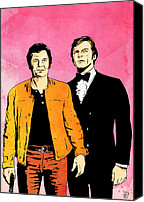 Roger Canvas Prints - The Persuaders Canvas Print by Giuseppe Cristiano