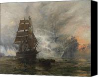 Scary Painting Canvas Prints - The Phantom Ship Canvas Print by William Lionel Wyllie