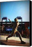 Stadium Digital Art Canvas Prints - The Phillies - Mike Schmidt Canvas Print by Bill Cannon