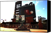Stadium Digital Art Canvas Prints - The Phillies - Steve Carlton Canvas Print by Bill Cannon