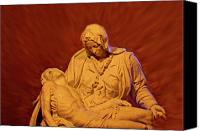Michaelangelo Canvas Prints - The Pieta at Ste Anne De Beaupre Canvas Print by Al Bourassa