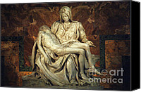 Michaelangelo Canvas Prints - The Pieta Canvas Print by Bob Christopher