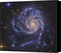 No Face Canvas Prints - The Pinwheel Galaxy, Also Known As Ngc Canvas Print by R Jay GaBany