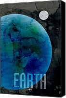 Outer Space Canvas Prints - The Planet Earth Canvas Print by Michael Tompsett
