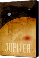 Outer Space Canvas Prints - The Planet Jupiter Canvas Print by Michael Tompsett