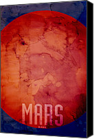 Outer Space Canvas Prints - The Planet Mars Canvas Print by Michael Tompsett