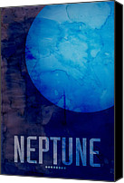 Neptune Canvas Prints - The Planet Neptune Canvas Print by Michael Tompsett