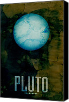 Universe Canvas Prints - The Planet Pluto Canvas Print by Michael Tompsett