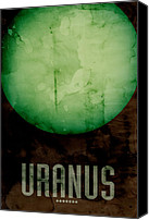 Universe Canvas Prints - The Planet Uranus Canvas Print by Michael Tompsett