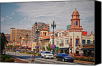 Kansas City Canvas Prints - The Plaza in Kansas City Canvas Print by Lyle  Huisken