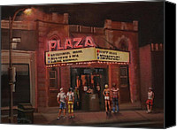 Haunted House Canvas Prints - The Plaza Canvas Print by Tom Shropshire