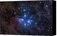 Luminous Canvas Prints - The Pleiades, Also Known As The Seven Canvas Print by Roth Ritter