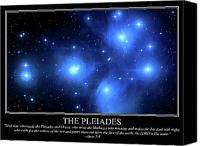 Job Painting Canvas Prints - The Pleiades Canvas Print by Our Creator