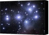 Star Photo Canvas Prints - The Pleiades Canvas Print by Robert Gendler