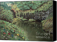 Flora Pastels Canvas Prints - The Pond Canvas Print by Jim Barber Hove