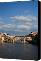 Italia Canvas Prints - The Ponte Vecchio Canvas Print by Steven Gray