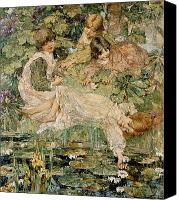 Atkinson Canvas Prints - The Pool Canvas Print by Edward Atkinson Hornel