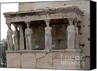 Acropolis Canvas Prints - The Porch of the Caryatids Canvas Print by David Bearden