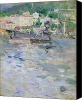 Architecture Painting Canvas Prints - The Port at Nice Canvas Print by Berthe Morisot