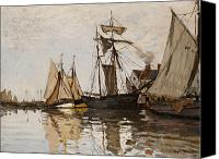 Impressionism Canvas Prints - The Port of Honfleur Canvas Print by Claude Monet