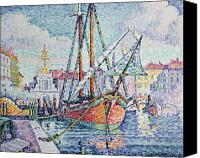 Signac Canvas Prints - The Port Canvas Print by Paul Signac