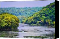 Harpers Ferry Canvas Prints - The Potomac Canvas Print by Bill Cannon