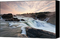 Washington Dc Canvas Prints - The Potomac River at Great Falls Canvas Print by Mark VanDyke