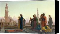 Allah Canvas Prints - The Prayer Canvas Print by Jean Leon Gerome