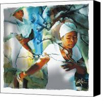 Haitian Canvas Prints - The Prayer Tree Haiti Canvas Print by Bob Salo