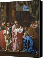 Onlookers Canvas Prints - The Presentation of Christ in the Temple Canvas Print by Charles Le Brun