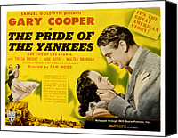 Movie Posters Canvas Prints - The Pride Of The Yankees, Veloz Canvas Print by Everett